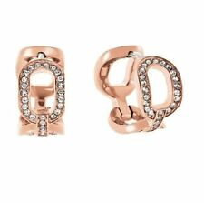 Michael Kors MKJ4870 791 Cityscape Chain Rose Gold Tone Huggies Earrings Jewelry