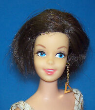 Vintage #1180 Brunette Casey Doll BL TNT Gold Triangle Earring 1966 OSS