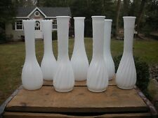 "Vtg Milk Glass 9"" Bud Vase Wedding, Shower, Florist, Party~ Lot of 7.."