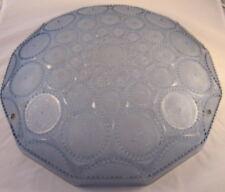 plafonnier vasque pate de verre moule presse art deco bleu