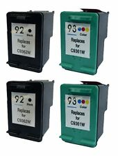 4x Black & Color Remanufactured Ink Cartridge for HP 92 C9362WN HP 93 C9361WN