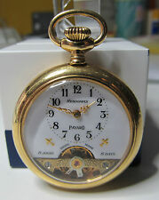 HEBDOMAS payard 8 Days pocket watch with enamel scene for spares or repair