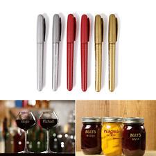 6 X Glass Color Pen Kontur fine Glasmalstift Glasmarker Gold Silber Rot Marker