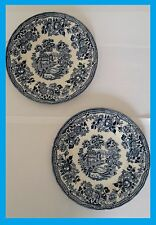 ~~VINTAGE 2X SIDE BLUE PLATES THE GEORGIAN COLLECTION CHURCHILL ENGLAND FREE P&P