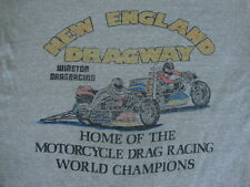 Vintage 80's New England Dragway drag race winston motorcycle SOFT T shirt M