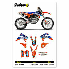 2013-2015 KTM SX/SXF Team Issue LO Motocross Graphics Dirt Bike Graphic Decal