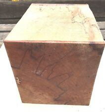 180X180X255MM LOT 388 SPALTED BEECH WOODTURNING FIGURED TIMBER BLANK