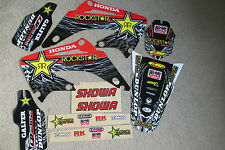 TEAM ROCKSTAR GRAPHICS & BLACK BACKGRNDS HONDA CR125 CR250 CR125R CR250R 02-07