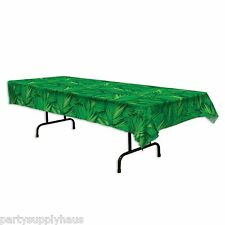 LUAU Jungle Safari PALM LEAF plastic TABLE COVER Party Decoration JUNGLE BOOK