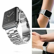 for Apple Watch Series 2/1 38mm (Silver ) Stainless Bracelet Clasp iWatch Strap