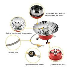 2800W Portable Windproof Camping Picnic Backpacking Butane Gas Stove NEW E5M4