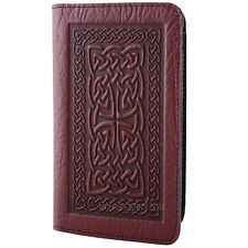 CELTIC BRAID Oberon Design Leather CHECKBOOK COVER Wine-Brown holder knot CKC16