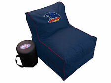 Adelaide Crows AFL Large Foldable Lounge Bean Bag Chair With Cooler New