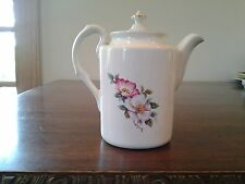 Vintage Wild Briar Rose House of Webster Coffee Tea Pot with lid Floral w/ gold