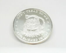Don't Tread on Me THE PRICE OF LIBERTY Rattle Snake 999 Fine Silver 1 oz Medal