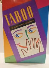 Vintage Taboo Game of Unspeakable Fun 1989 Edition Ages 12+ NEW