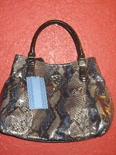 SIMPLY VERA WANG NWT $99 women's purse MODENA SATCHEL estate grey python