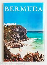 Bermuda Travel FRIDGE MAGNET (2 x 3 inches) poster vacation holiday beach