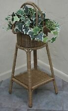 Antique Finish Indoor Wicker Furniture Basket Table Planter
