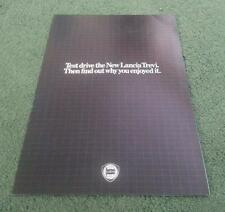 1981 LANCIA Beta TREVI TEST DRIVE FREE BOOK OFFER - UK COLOUR FOLDER BROCHURE