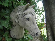 horse  head wall plaque stone garden ornament | Many more ornaments in my shop!