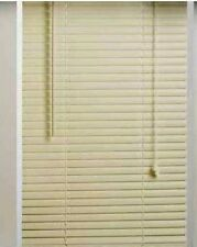 "ALABASTER 1"" VINYL MINI BLINDS - 25"" WIDE x 72"" LONG"