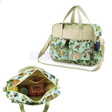 Zoo Animals Print Baby Diaper Nappy Bag Changing Mat Mummy Tote Shoulder Handbag