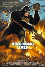King Kong Lives Poster 01 Metal Sign A4 12x8 Aluminium
