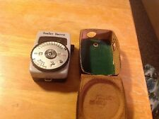 Vintage Sunset Unittic Light Meter Model 45 Leather Case Japan