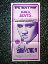 THIS IS ELVIS Original Vintage 1980s DB Movie Poster Elvis Presley, Rhonda Lyn