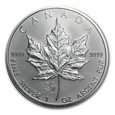 2005 1 oz Silver Canadian Maple Leaf Coin - Lunar Rooster Privy - SKU #22204