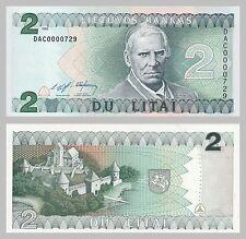 Litauen / Lithuania 2 Litai 1993 p54a unz.