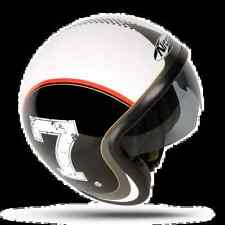 Nitro X 581 LEATHER MOTORCYCLE MOTORBIKE SCOOTER CLASSIC HELMET EC APPROVED