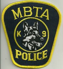 K-9 GHF Massachusetts Boston MBTA police patch police insigne chiens guide