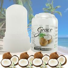 70 G. Grace Coconut Natural Deodorant Roll On Stick Alum Crystal Body Roll On