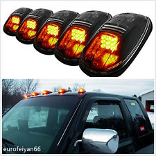 5 Pcs Black Smoked Lens Amber Car SUV Cab Roof Marker Running Lamp Deocr Lights