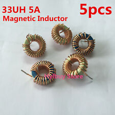 5pcs 33UH 5A Toroidal Inductor Magnetic inductance Coil