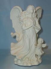 PartyLite Angel Of Hope Bisque Porcelain Taper Candle Holder ~ Mint Pre-Owned