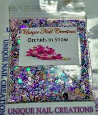 Limited Edition Glitter Mix~Orchids In Snow* Comes With Alloy~ Nail Art
