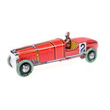 Vintage red Wind Up Racing old classic Race Car model Vehicle toy  gl@
