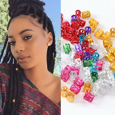 100 Mix Color Colorful Dreadlock Beads Adjustable Hair Braid Cuff Clip 8mm Hole3