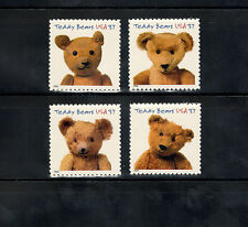 3653-56a Teddy Bears Set Of 4 Mint/nh (free shipping offer)