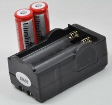 US 18650 3000mAh 3.7V Rechargeable Li-Ion Battery Charger Combo for Flashlight