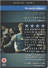 The social network dvd Facebook story region 2 / 1 disc Justin Timberlake