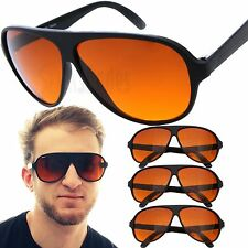 3 PAIR Aviator BLUE BLOCKER Sunglasses with Amber Lens
