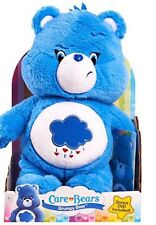 "*CARE BEARS* Deluxe GRUMPY BEAR 12"" Soft Stuffed Plush & DVD New NEW"