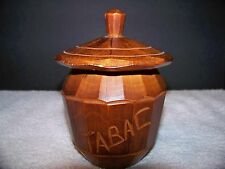 TABAC Wood Container with Lid Tobacco Box Handmade Brown Trinket Germany