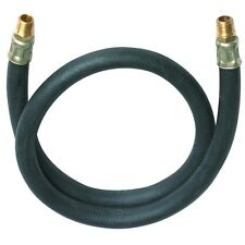 Lead-In Rubber Air Hose 3 ft. x 3/8 in. Air Tool Compressor Hose Lead 1/4 in NPT