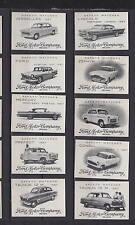 Série étiquettes allumettes Belgique  Voiture Ford