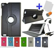 "Pack 7 en 1 FUNDA GIRATORIA PARA TABLET BQ EDISON 3 MINI 8"" GRAN CALIDAD"